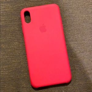 iPhone X Max RED Apple Soft Case